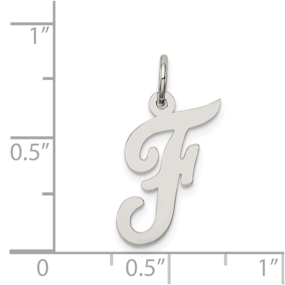 Mia Diamonds 925 Sterling Silver Medium Script initial F Charm