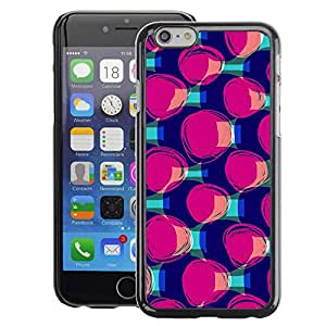 Planetar® ( Purple Teal Pattern Fashion ) Apple iPhone 6 / 6S (4.7 inches!!!) Fundas Cover Cubre Hard Case Cover