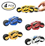 4 PCS Large Friction Futuristic Motorcycle Toys for Kids - Racing Motorbike Vehicles Party Favors