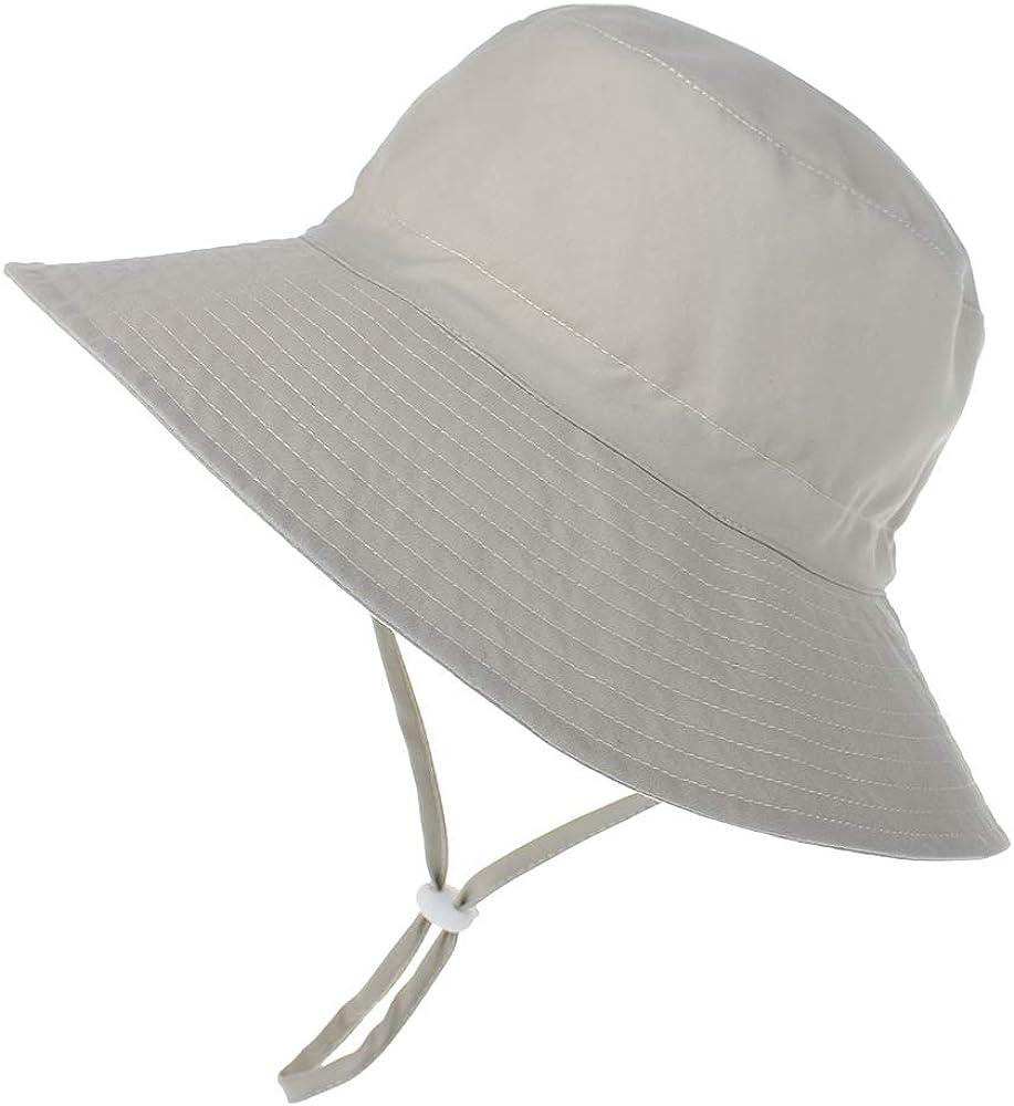 LACOFIA Sombrero de Sol para beb/é ni/ño UPF 50 Ajustable Gorro Verano de Pescador para ni/ños ala Ancha para Exteriores//nataci/ón//Playa//Piscina