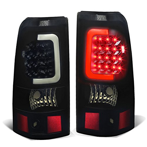 Silverado/Sierra Fleetside Pair of 3D LED Bar Tail Brake Lights (Black Housing Smoked (Gmc Sierra Fleetside Led Tail)