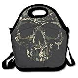 camo cooker - Cool Camo Skulls Lunch Bag Tote Handbag Lunchbox Food Container Tote Cooler Warm Pouch For School Work Office
