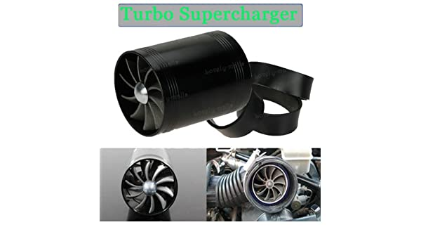Amazon.com: FidgetGear 65MM Black Gas Fuel Turbo Saver Fan Supercharger Air Intake Turbonator For Jeep: Automotive