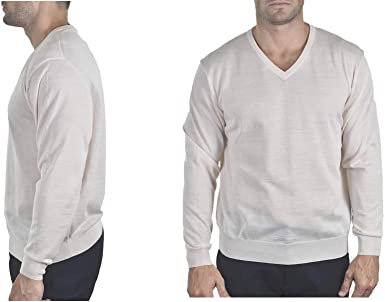 Enzo Mantovani Long Sleeve V-Nack 100/% Cashmere Sweater