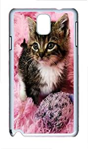 Samsung Galaxy Note 3 N9000 Cases & Covers -Pink Kitten Animal Custom PC Hard Case Cover for Samsung Galaxy Note 3 N9000¨C White
