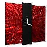 Jon Allen Metal Art Large 24 Inch Decorative Wall Clock, Contemporary Modern Metal Wall Art, Lavish Mechanism Review