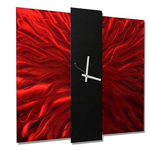 Metal Art Large  Decorative Wall Clock, Contemporary Modern