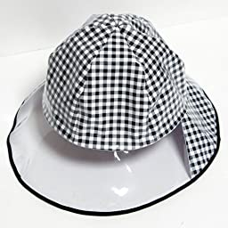 Women\'s rain hat Noble check made in Japan (japan import)