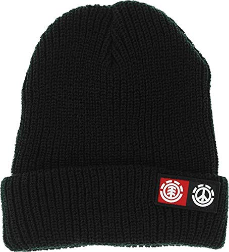 Peace Flint Black Beanie Hat - One Size fits Most ()