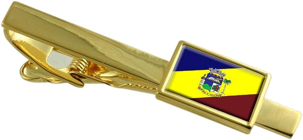 Paty do Alferes City Rio de Janeiro State Flag Gold-tone Tie Clip Engraved Personalised