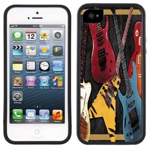 E Gitarre | Handgefertigt | iPhone 5 5s | Schwarze Hülle