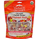 Yummy Earth Organic Candy Drops Freshest Fruit - Case of 12 - 13 oz - 95%+ Organic - Gluten Free - Dairy Free - Yeast Free - Wheat Free - Vegan