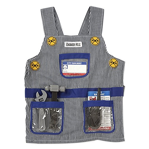 (Melissa & Doug Personalized Train Engineer Role Play Costume Dress Up Set (7)