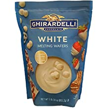 Ghirardelli Chocolate Melting Wafers (for Candy Making and Dipping), 1 Pound 14 Ounce Bag (White Chocolate)