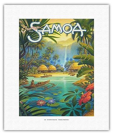 Amazon greetings from samoa samoan islands vintage style greetings from samoa samoan islands vintage style world travel poster by kerne erickson m4hsunfo