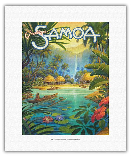 Greetings from Samoa - Samoan Islands - Vintage