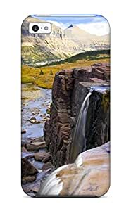 First-class Case Cover For Iphone 5c Dual Protection Cover Glacier National Park
