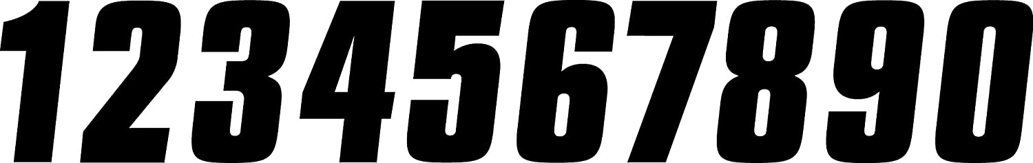 Factory Effex 02-4452 Black 6 Standard Number Graphic