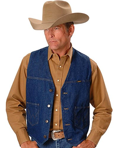 Wrangler Men's Unlined Vest, Denim, X-Large by Wrangler