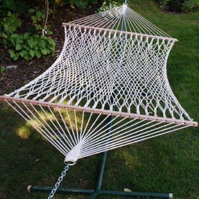 028929049016 - 11' Cotton Rope Hammock - carousel main 0