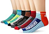 Quiksilver Men's 6 Pack Color-Blocked Stripe Quarter Sock