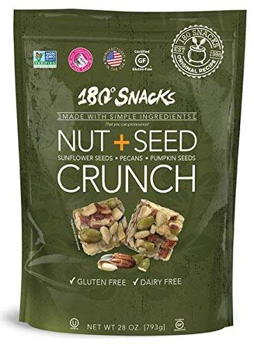 180 Snacks Nut + Seed Crunch, Sunflower Seeds, Pecans, Pumpkin Seeds, One bag, 28 ()