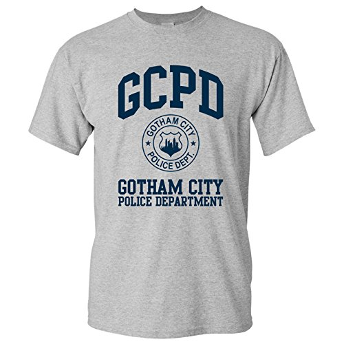UGP Campus Apparel Gotham City Police Department - GCPD Gordon Comic Book TV Show T Shirt - 2X-Large - Sport Grey -
