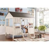Acme Furniture ACME Spring Cottage Weathered White and Washed Gray Full Bed