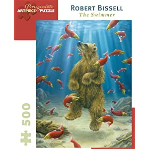 Robert Bissell The Swimmer 500 Piece Puzzle Inglese Copertina Rigida 15 Set 2013
