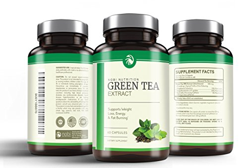Nobi Nutrition's Green Tea Extract Supplement with EGCG for Weight Loss - Metabolism Boost and Heart Health - Caffeine Boost & Energy Supplement - All Natural Antioxidant by Nobi Nutrition (Image #3)