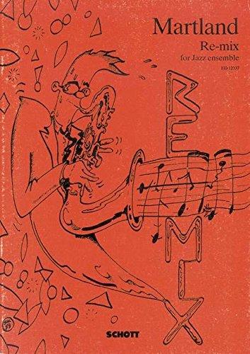 Re-mix - for Jazz ensemble - 2 saxophones (AT), bugle à pistons, trombone, violon electrique, synthétiseur, batterie, E-basse - Partition d'étude - ED 12337 (Trombone Pistons)