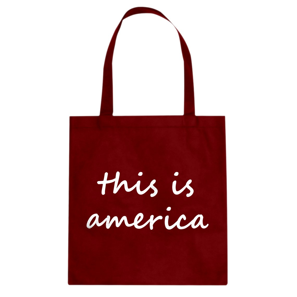 Indica Plateau This is America Cotton Canvas Tote Bag