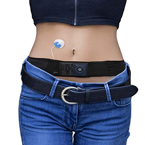 Glucology Insulin Pump Belt | Fanny Pack for Running or Travel - Diabetic Supplies and Accessories for Men and Women - Slim, Discreet Design - Storage for Phone, Money, Cash, Passport (Medium)