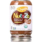 NuttZo Spread - Organic - Seven Nut and Seed Butter - Crunchy - 70 Percent Dark Chocolate - 16 oz - case of 6