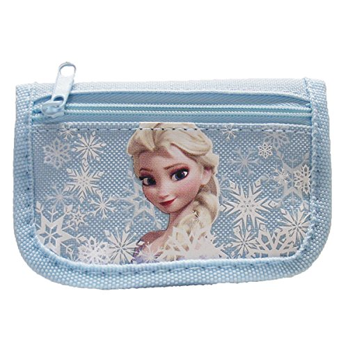 08. Disney Frozen Elsa Light Blue Trifold Wallet