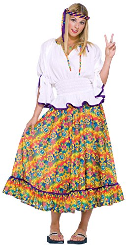 Forum Novelties Women's Generation Hippie Woodstock Girl Adult Costume, Multi, One Size (Peace Costumes)