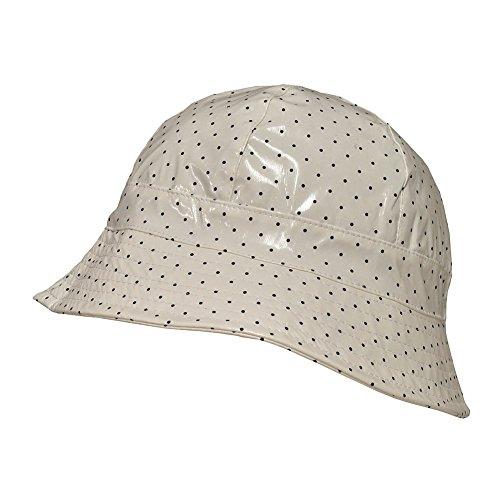 TOUTACOO, Waterproof Vinyl Bucket Rain Hat Polka Dot - White