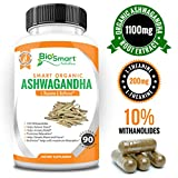 Organic Ashwagandha Capsules 1300mg Made With Ashwaganda Root Extract, L-Theanine and Black Pepper - Anxiety Relief - Stress Relief - Mood Enhancer - Anti Anxiety Supplement - Thyroid Support, 90 Caps