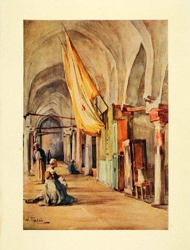1907 Print Shrine Sakhlun Rosetta Egypt Egyptian Architecture Art Vase Tyndale - Original Color Print - Egyptian Shrine