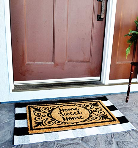 Amazon Com Buffalo Plaid Rug Layered Door Mats Outdoor