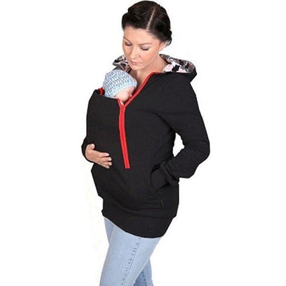 43fd54c89236 Culater® Manteau Veste de Porte-bébé Kangourou Vêtements d hiver Enceinte (S