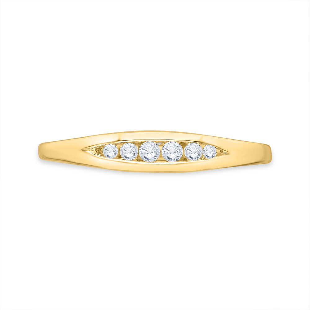 Size-10.25 1//10 cttw, Diamond Wedding Band in 10K Yellow Gold G-H,I2-I3