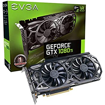 EVGA GeForce GTX 1080 Ti SC Black Edition GAMING, 11GB GDDR5X, iCX Cooler & LED, Optimized Airflow Design, Interlaced Pin Fin Graphics Card 11G-P4-6393-KR