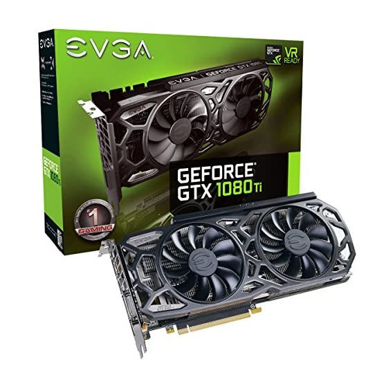 EVGA GeForce GTX 1080 Ti SC Black Edition Gaming, 11GB GDDR5X, iCX Cooler & LED, Optimized Airflow Design, Interlaced… 518eCm%2BMQ0L. SS555