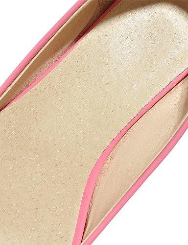 Puntiagudos Oficina Uk8 Rosa Y Mujer 5 5 Uk3 Zq Zapatos Blanco 5 Eu42 U Cuero Plano Cn43 negro us5 Pink Trabajo 5 Eu36 us10 Planos Beige Patentado Vestido Cn35 Tac¨®n Casual De qZwXw01