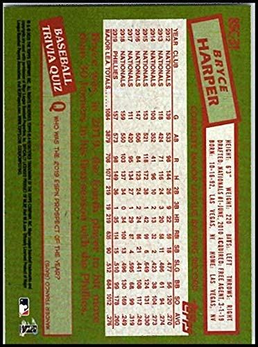2020 Topps Silver Packs Series One Refractors #85C-31 Bryce Harper NM-MT Phillies