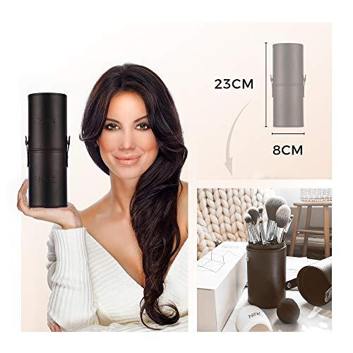 Nire Beauty Set De Brochas De Maquillaje Profesional De 15 Piezas Brochas Y Pinceles De Maquillaje Estuche Esponja Limpiador Guia Caja De Regalo