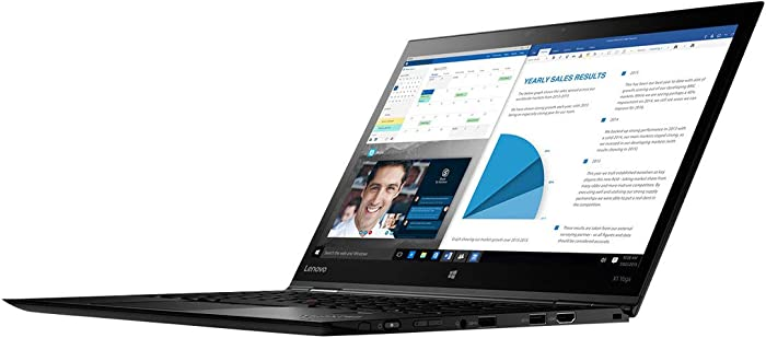 "Lenovo 20LD001GUS Thinkpad X1 Yoga 20LD 14"" Flip Design Notebook - Windows - Intel Core i5 1.6 GHz - 8 GB RAM - 256 GB SSD, Black"