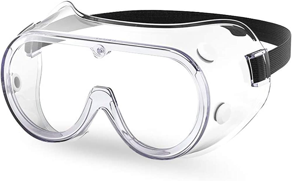 The Essential Goods Protective Safety Goggles   Anti-fog, Scratch Resistance   Wide Vision Clear Lens   Goggles For Safety   Medical Goggles   Lab Goggles  Chemistry Goggles