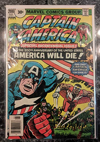 Captain America #200 30 Cent Price Variant Comic Book - VG Condition - Bicentennial Issue - Jack Kirby Cover and Art